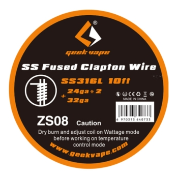 Geekvape SS Fused Clapton Wire - ZS 08